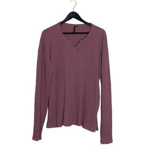 Joe's Collection Waffle Knit Henley